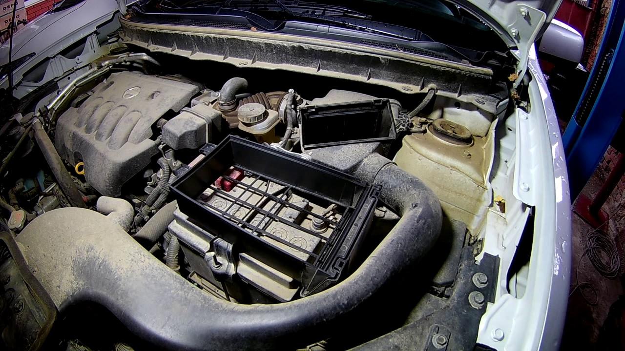 Замена масла в двигателе Ниссан Х-Трейл Nissan X-Trail Фото инструкция как поменять масло в Ниссан Икстрейл T31 своими руками