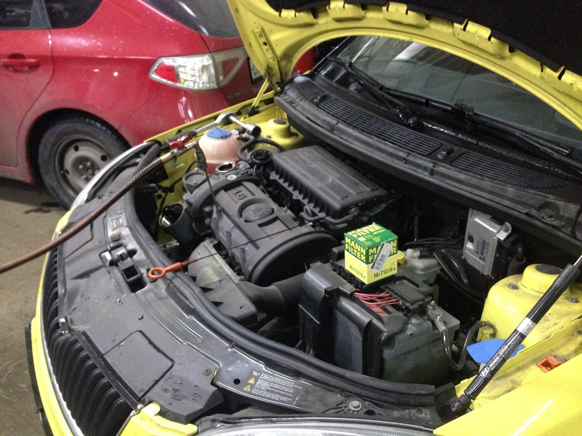 Подготовка к замене масла в двигателе