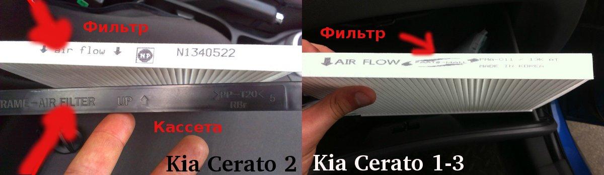 Салонный фильтр Kia Cerato